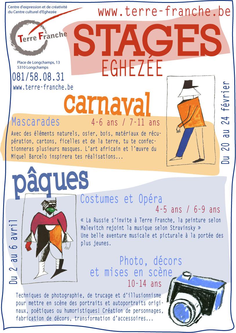 Stage Carnaval et Pâques 2012
